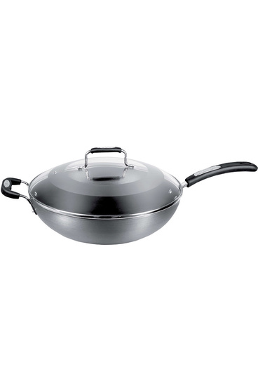 Tefal specialty hard anodised wok 32cm