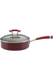 CIRCULON  Covered contempo red saute pan 24c/2.8l