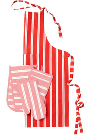 Soren stripe kitchen apron