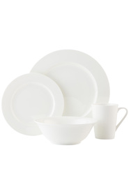 Cd pearlesque dinnerset rim 16pc