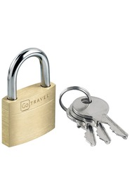 GO TRAVEL PADLOCK BRASS PADLOCK 25MM 325