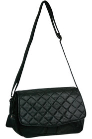 Viali leather quilt flap front sling