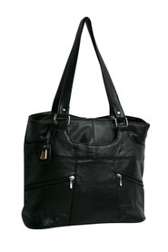 Viali leather large tote