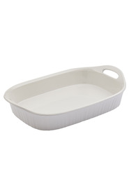 CORNINGWARE French white stoneware 2.85l oblong baker