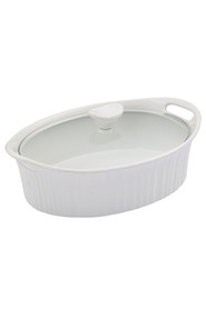 CORNINGWARE French white stoneware 1.4l oval casserole