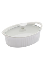 CORNINGWARE French white stoneware 2.35l oval casserole
