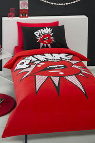 Pink kiss quilt cover set db