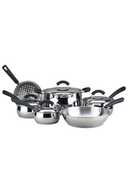 SMITH & NOBEL 6 Peice arrondi belly stainless steel cookset