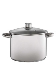 DAVIS AND WADELL Essentials stainless steel stock pot 24cm/8l