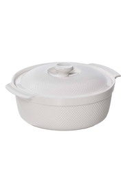 SMITH & NOBEL  White essentials round casserole 3.3l