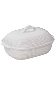 SMITH & NOBEL  White essentials oval casserole 39cm