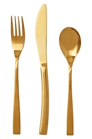 S+n 32pc gold plated cutlery set ouro