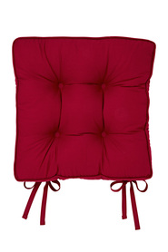 Urbane home cotton gussetted chair pad