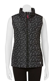 LMA ACTIVE Womens printed puffer vest