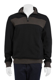 BRONSON Chest rib fleece quarter zip top