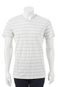 URBAN JEANS CO Yarn dyed stripe v neck tshirt