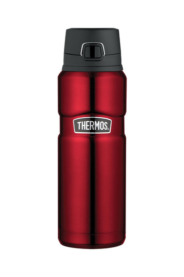Thermos king s/s red flip bottle 710ml