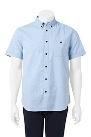 URBAN JEANS CO End on end speckle weave short sleeve shirt