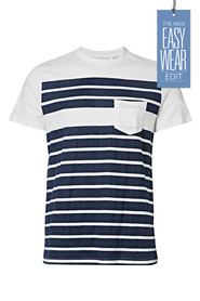 URBAN JEANS CO Printed stripe crew neck tshirt