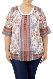 TANIA KAY PRETTY FOLK BLOUSE TKB019