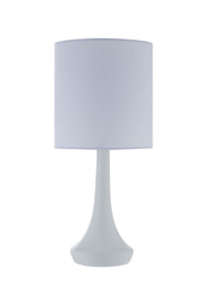 Soren lou matt white table lamp 35cm