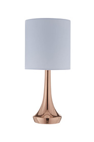 Soren lou rose gold table lamp 35cm