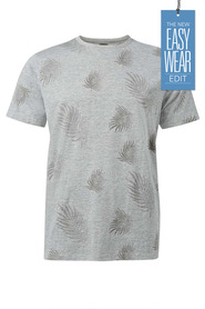 URBAN JEANS CO Leaf print tshirt