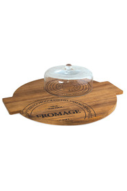 SALT & PEPPER  Fromage Board W/Glass Dome 40Cm