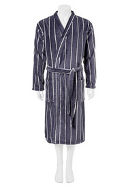 BRONSON Stripe Fleece Gown