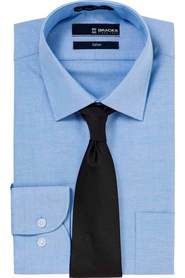 Bracks blue oxford shirt brlh405u_bcsb