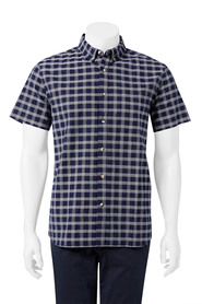 URBAN JEANS CO Check short sleeve shirt