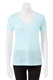 LMA ACTIVE Womens V Neck Breathe Back Tee