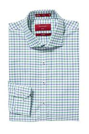 VAN HEUSEN Check On White Slim Fit Shirt