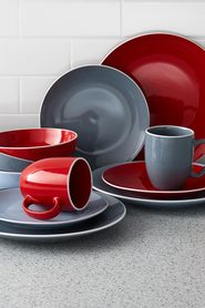 SOREN Arden 16 Piece Dinner Set Grey