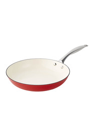 SMITH & NOBEL  Light weight cast iron 28cm frypan red