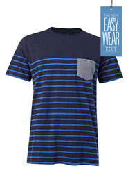 URBAN JEANS CO Engineered stripe crew neck tshirt
