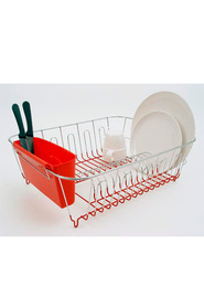 D LINE  Dish Drainer 44.5 X 35.5 X15.5Cm Red