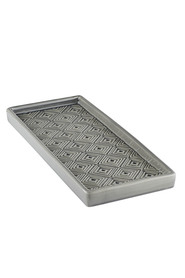 Mozi embossed tray charcoal