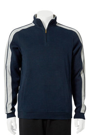 BRONSON Contrast Quarter Zip French Rib Top