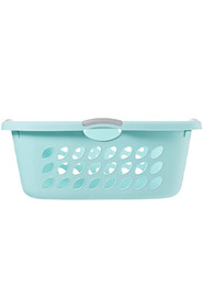 STERILITE 44L ultra hiphold laundry basket - aquaand chrome