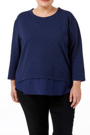 Tania kay speckle strp knit top may-hs02