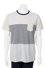 URBAN JEANS CO Short Sleeve Crew Neck Multi Stripe Tshirt