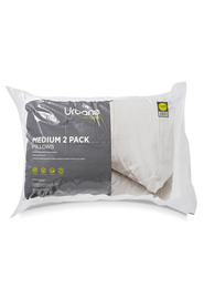 URBANE HOME 2pk Polyester Pillows Medium