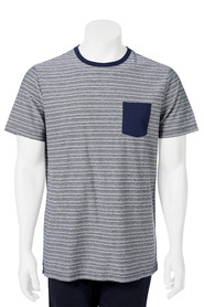 URBAN JEANS CO Short Sleeve Crew Neck Yarn Dye Stripe Tshirt