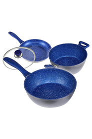 BLUESTONE 4 Pc non stick 24cm  blue set