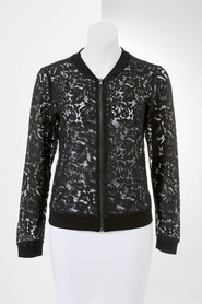 SIMPLY VERA VERA WANG Lace Bomber Jacket