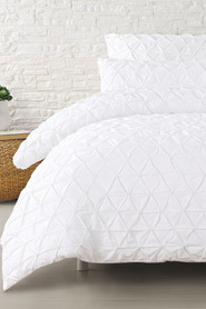 MOZI Posie Cotton Percale Quilt Cover Set QB