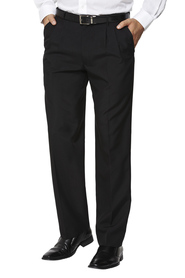 BRACKS Zulu 2 Pleat Plain Weave Trouser With Extendable Waistband