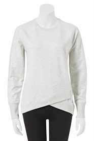 LMA ACTIVE Womens Tulip Front Marle Crew