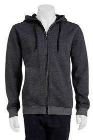 URBAN JEANS CO Texture zip thru fleece hoody
